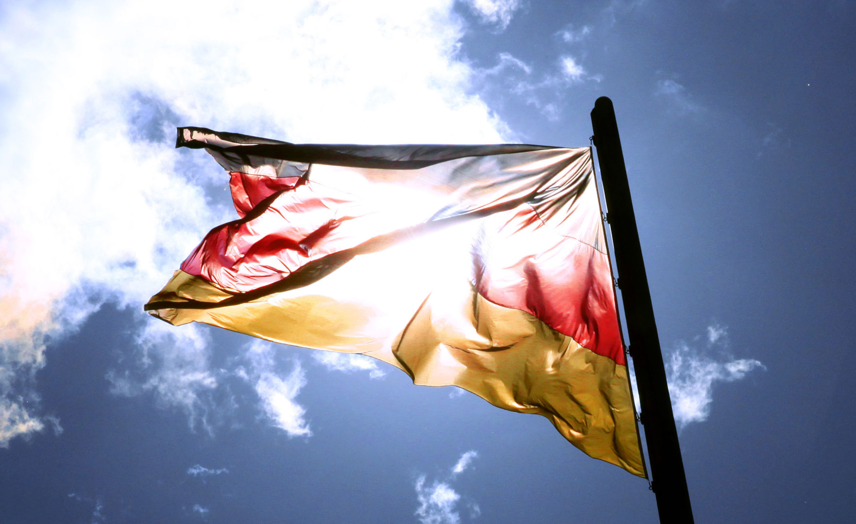 Das Bild zeigt die Flagge der Bundesrepublik Deutschland