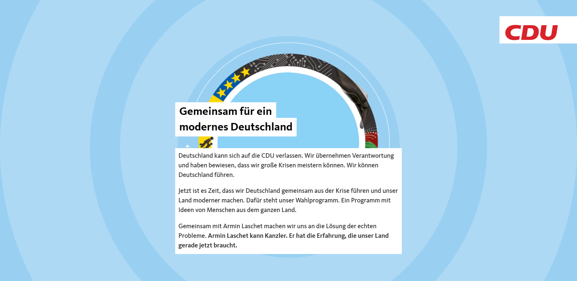 CDU Wahlprogramm Bundestagswahl 2021